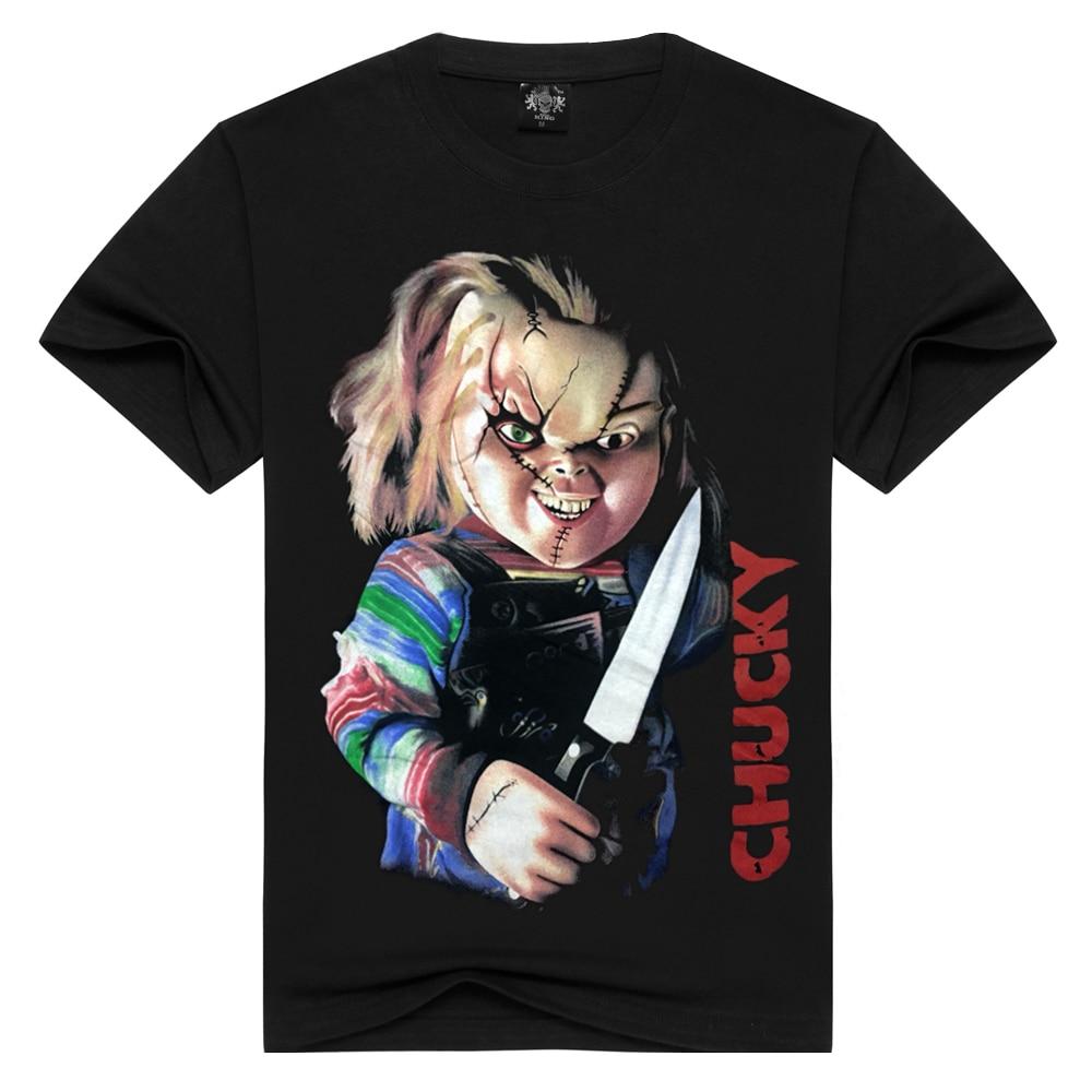Men/women Seed of chucky   t     shirt   cotton Horrible chucky tshirts Tops Tees funny   T  -  shirt   Men   t  -  shirts   Plus Size