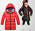 2016 girls winter long section of thick white duck down children kids Down jacket outwear coat children free shipping