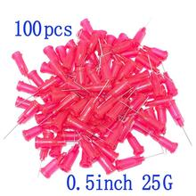 100pcs, Dispensing Needles Syringe Needle 25Gauge x 0.5 (0.5inch Length)  Blunt Tip With Luer Lock 25Ga For Mixing Many Liquid