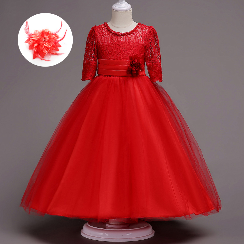 Kids Fashion Designers Party Clothes Short Sleeve Summer Ocasional Girl Princess Dress & Wedding Childrens Girls Dresses Size 14 5