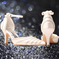 Wedopus Rhinestone Sparkle Ivory Bridal Wedding Evening Shoes Pumps Medium Heel