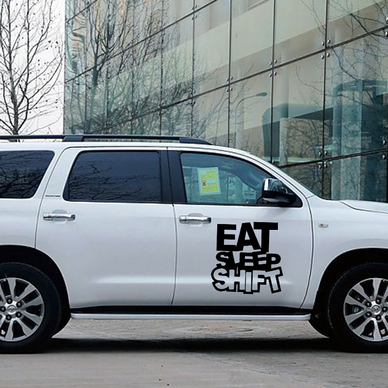 Eat Sleep Shift PromotionShop For Promotional Eat Sleep Shift On - Funny decal stickers for carseuro car promotionshop for promotional euro car on aliexpresscom