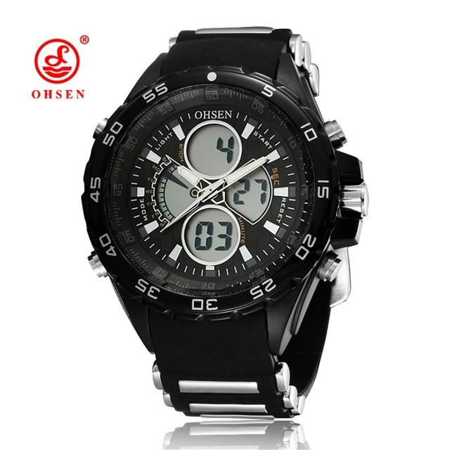Famous Brand OHSEN Sport Watch 3ATM Digital Waterproof Silicone Strap Men  Quartz Fashion Men s Casual Wristwatch 47f9b3e9f8