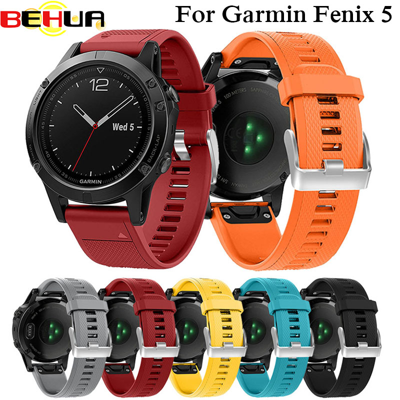 22mm Watchband Strap For Garmin Fenix 5 Smart Watch Quick Release Silicone Easy Fit Wrist Band Straps For Garmin Forerunner 935