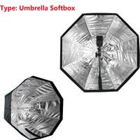 Tipo Ombrello Softbox Photo Studio 80 cm/31.5in/2.6ft Portatile Octagon Flash Speedlight SpeedliteSoft Box Brolly Riflettore