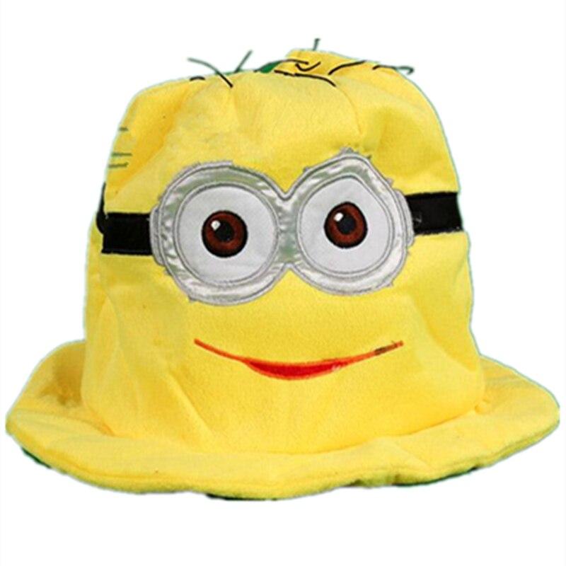 new Cartoon Anime Plush Cotton knitting cute Yellow Minion Dave Kevin Warm hat  Children Adult Yellow 8197d3870e68