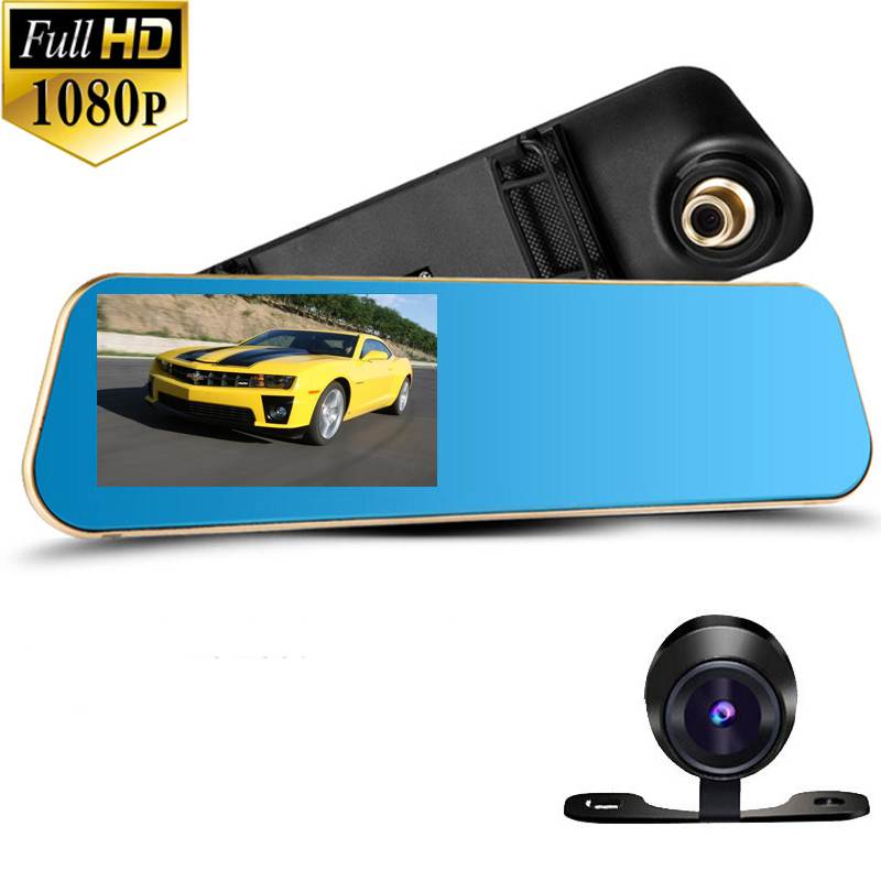 4 3 IPS Screen FHD1080P Car DVR Original NTK96655 Rearview Mirror video recorder Car DVRS Dual