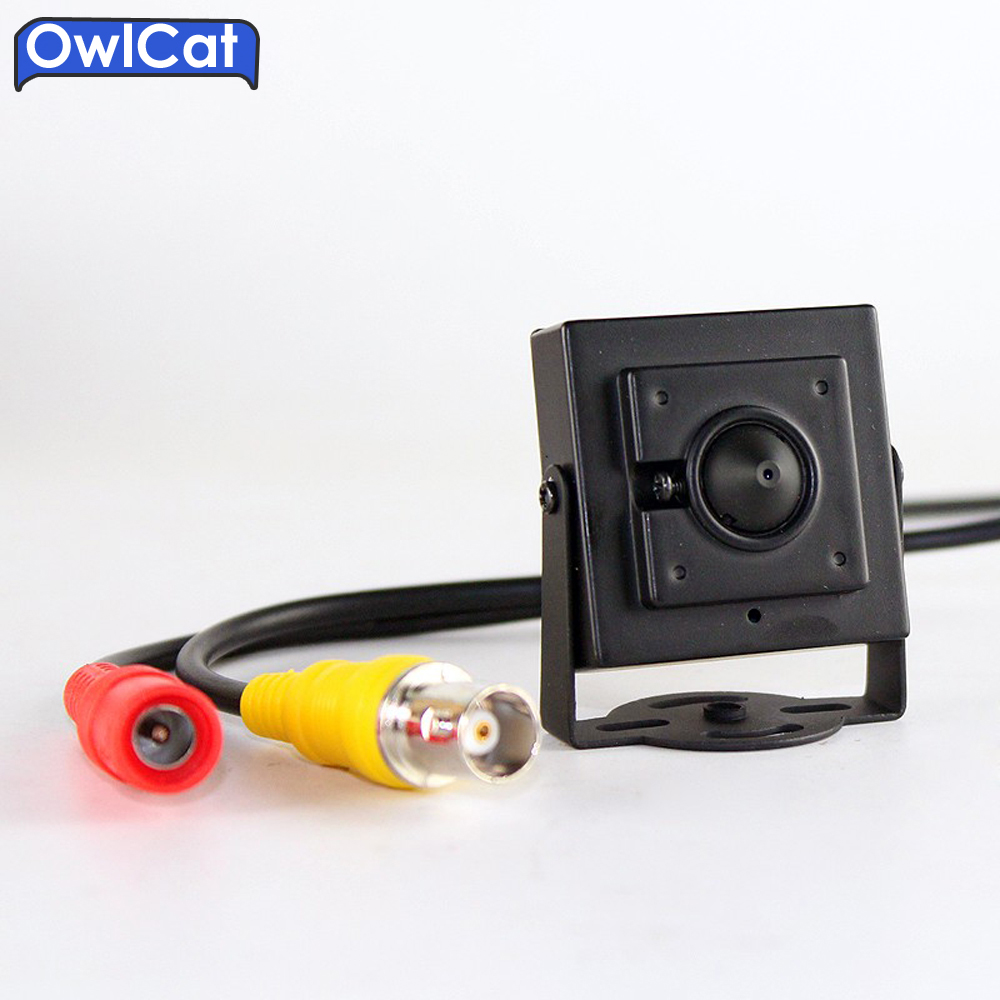 OwlCat Protable Video Super Mini Analog CCTV Camera 3.7mm Lens CMOS 700TVL Video Surveillance Security Cameras Metal Housing куплю прицеп торговый купава минск