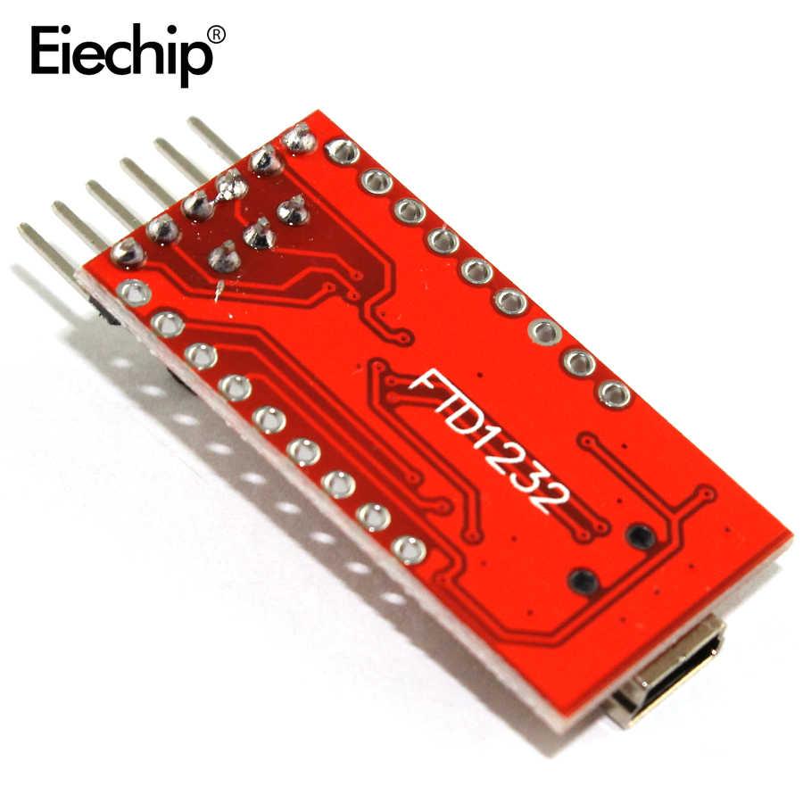 1 قطعة FT232RL FT232 FTDI USB إلى TTL 3.3 فولت 5.5 فولت مهايئ مسلسل وحدة تحميل كابل لمنفذ صغير اردوينو