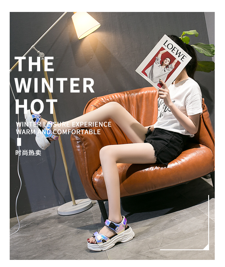 HTB1cFYtagmH3KVjSZKzq6z2OXXaB Women Sandals 2019 New Summer Sandals Ladies Casual Shoes Women Bling Wedges Buckle Strap Platform Shoes 5 CM Sandalias Mujer