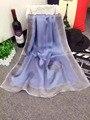 102322 22 colores 180x65 cm 2016 Más Nuevas mujeres de la Moda Bufanda de Seda, Bufanda de La manera, la Seda de las señoras, rectángulo Bufanda