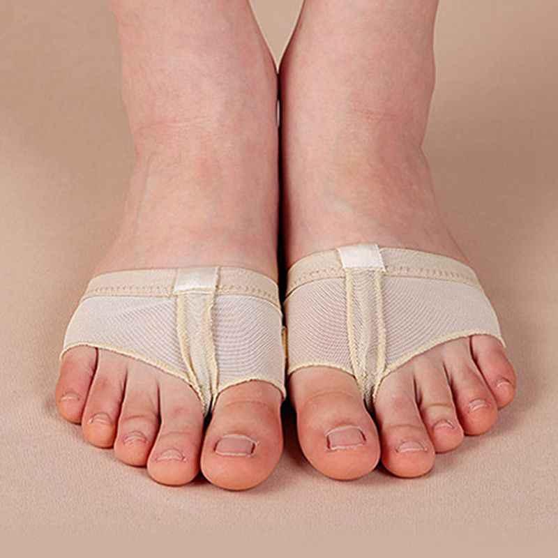 1 คู่ Belly บัลเล่ต์เต้นรำ Pad ฝึกรองเท้าทองเครื่องมือ Half Sole Gym ถุงเท้ารองเท้าเต้นรำ