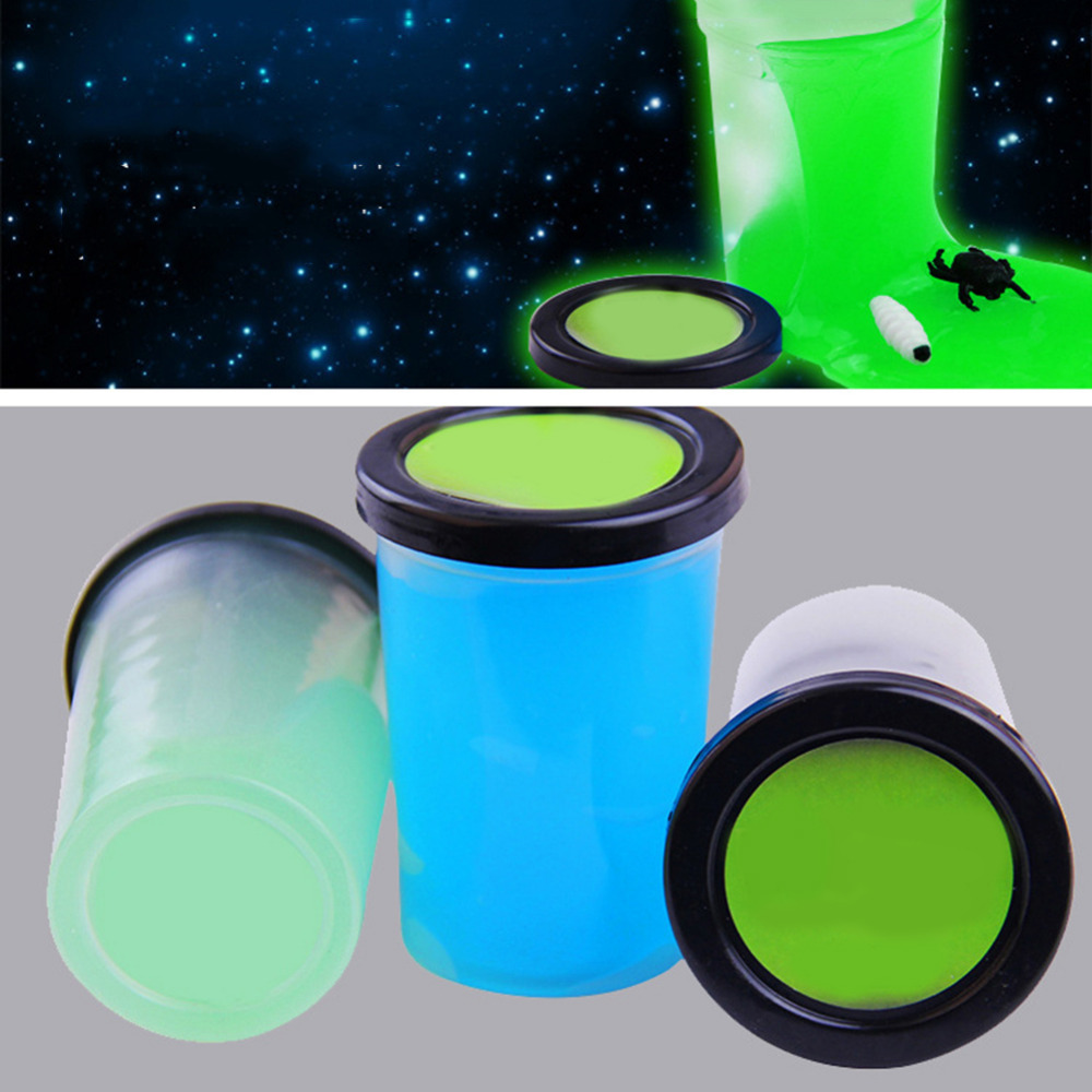 Luminous Rubber Mud Modeling Clay Slime Tricky Toy Stress - relieving Putty Plasticine for children