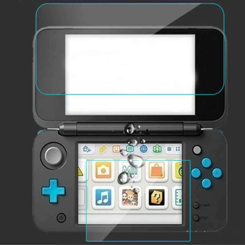 Top Tempered Glass LCD Screen Protector+Bottom Clear Full Cover Protective Film Guard for Nintendo New 2DS XL/LL 2DSXL/2DSLL