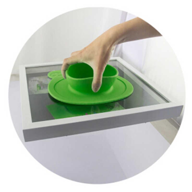 100% ซิลิโคนจานชามดูดถ้วยซิลิโคนอาหารจานถาดจานสำหรับทารกเด็กวัยหัดเดินเด็กทารกแผ่น