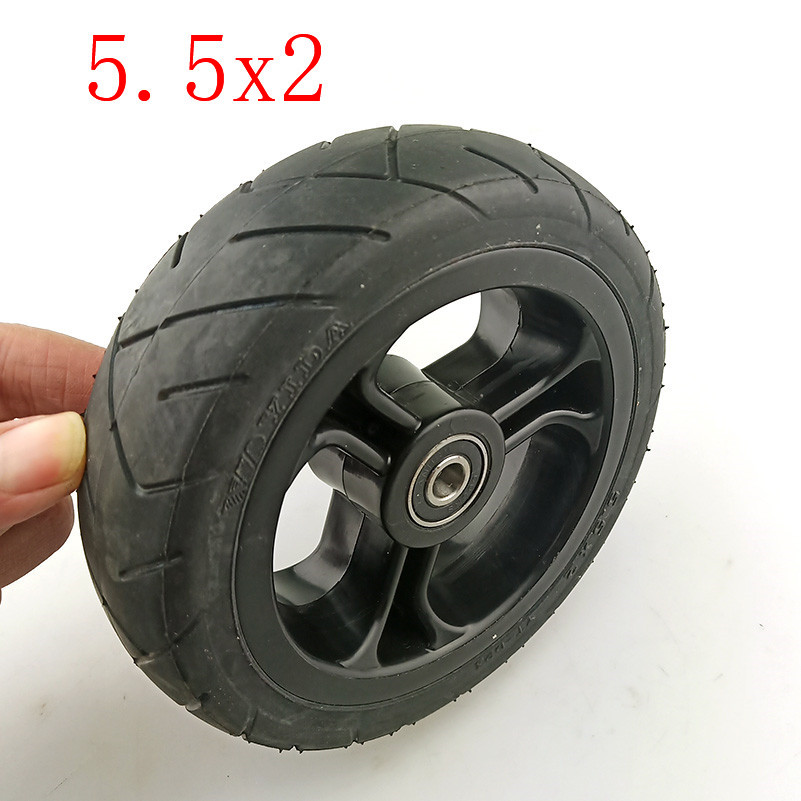 Lightning Shipment Solid Wheels 5 Inch 5.5x2  Fast Wheel F0,jackhot,Nes Carbon Fiber Scooter Solid Tire With Plastic Rim