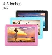 Yüksek Kalite 4.3 Inç Dokunmatik Ekran 8 GB MP3 MP4 MP5 Çalar Dijital Video Medya TV OUT Destek TF Kart müzik Çalar