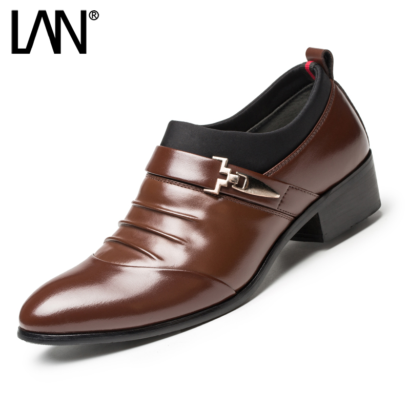 ФОТО Fashion 2016 Comfort Slip On Men Casual Shoes Breathable Genuine Leather Lace Up Fashion Men Dress Shoes 2017