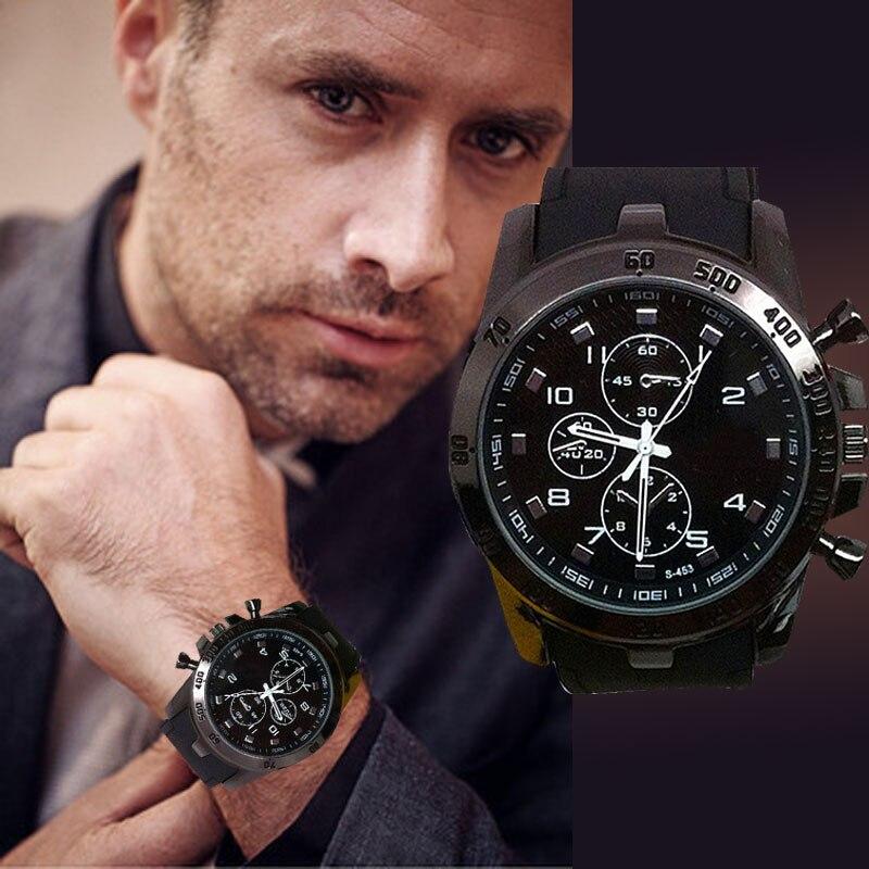 44b49467d الفولاذ المقاوم للصدأ الفاخرة الرياضة التناظرية الكوارتز الحديثة أزياء  الرجال ساعة معصم عالية الجودة الرجال ساعات #250717