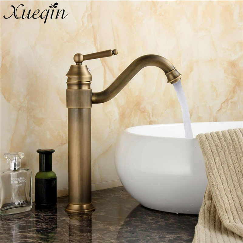 Xueqin Antique Copper Finish Bathroom Basin Faucet Europe Classic Style Mixer Tap Hot and Cold water Sink Faucet 2 Type finish classic порошок для пмм 2 5 кг