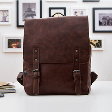 2016 New Fashion Black Leather Women Backpacks Preppy Style School Bags for Teenagers Casual Men Travel
