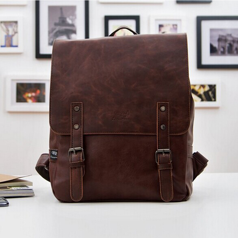 Prix pour 2016 nouvelle mode en cuir noir femmes sacs à dos Preppy Style sacs d'école pour adolescents Casual hommes voyage sacs Vintage mochilas