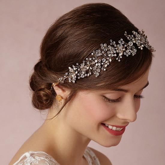handmade wedding tiara headband crystal pearl flower head piece fashion party vintage bridal headpieces hair jewelry
