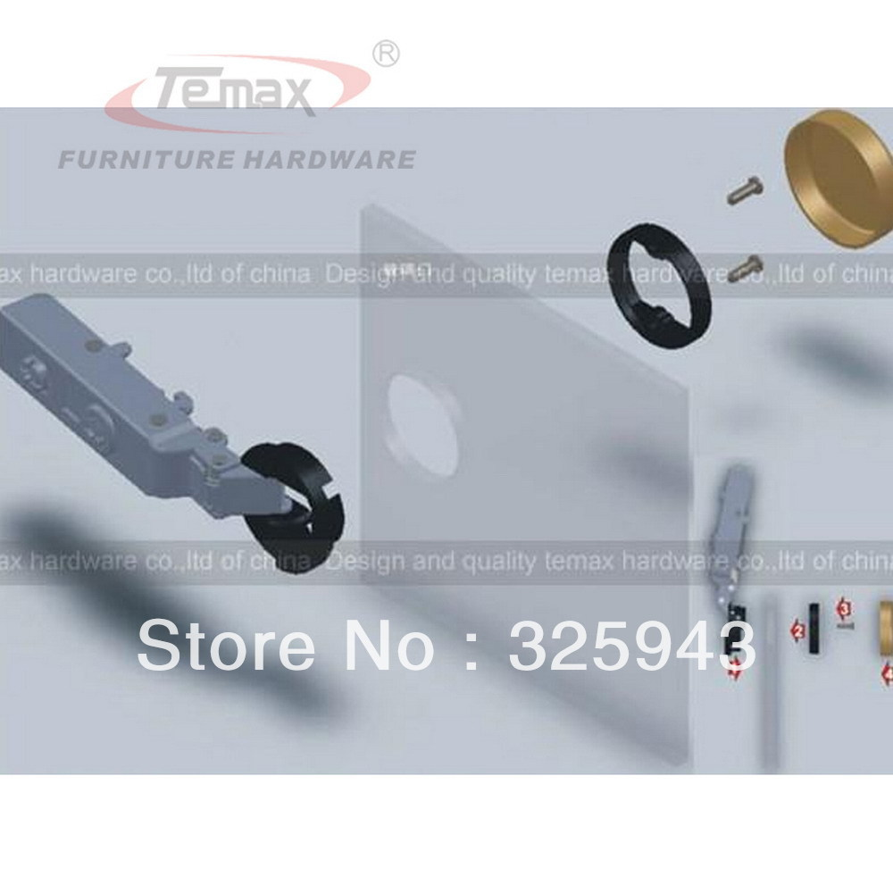 26mm Cup Full Overlay Furniture Hardware Soft Closing Cabinet ...