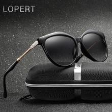 LOPERT zīmola stila luksusa sieviešu polartizētas saulesbrilles sievietes lielizmēra saulesbrilles Vintage āra saulesbrilles Oculos de sol
