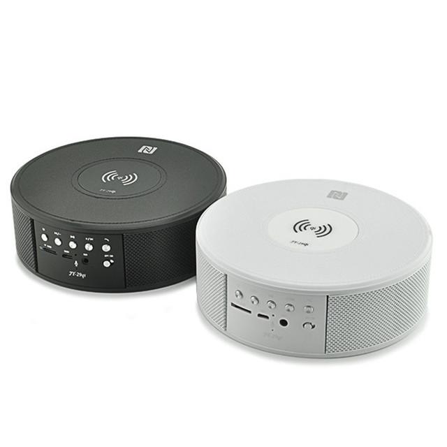 Hot carregamento sem fio alto-falantes bluetooth com microfone handsfree estéreo música speaker suporte tf card/fm/aux para iphone 5s 6 s