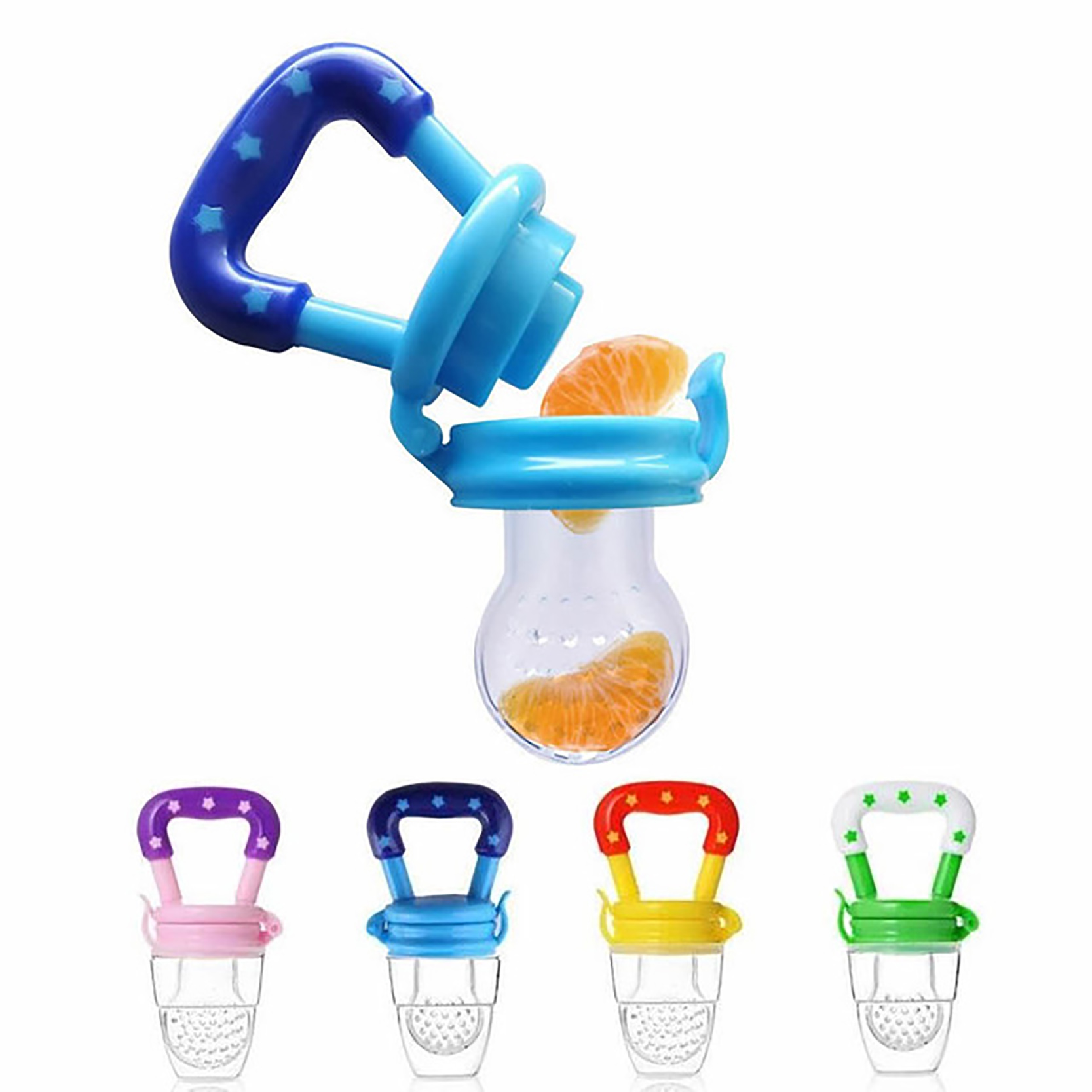 4PCS New Feeding Tool Bite Dummy Soother Safe Nipple Fresh Food Baby Pacifier Silicone Kids Supplies Fruit Nipples Teat Bottle