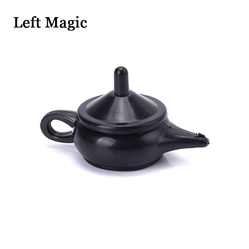 1pcs Wonderful Legend Aladdin Magic Genie Light  Magic Trick Professional Magician Coin Thru Lamp Magic Coin Props Easy To Do