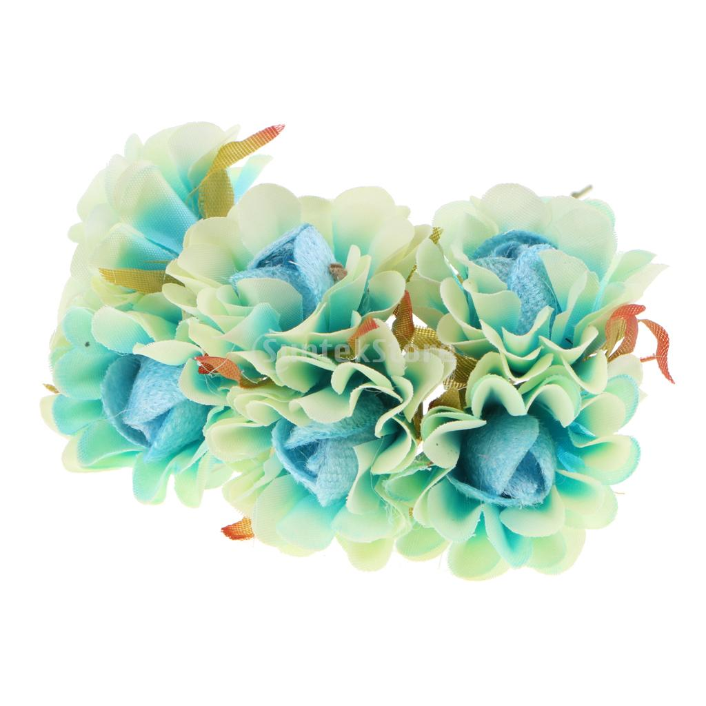 60Pcs Artificial Flower Stamen Flowers with Flexible Wire Stem ...