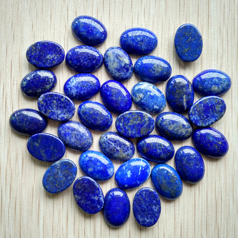 Wholesale 30pcs/lot 13x18MM high Quality natural Lapis Lazuli Oval shape CABOCHON CAB Beads for jewelry making DIY beads Free