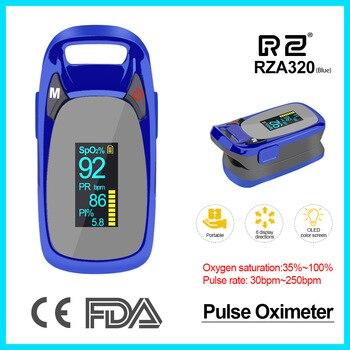 RZ Nieuwe Ontwerp Vingertop Pulsoxymeter Rate Bloeddruk Gezondheidszorg CE FDA OLED display Zuurstof Alarm instelling A320