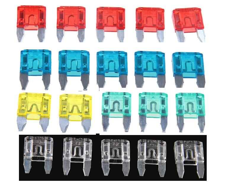 Wholesale 50pc 10a 5colors Fuse Automotive Mini Blade Fuse 10 Amp