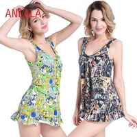 Europe and the United States Upscale Color Fat MM XL Gather Was thin Beach Hot Springs Triangle one-piece swimsuit