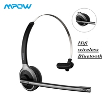 TOP Mpow M5 Bluetooth 4.1 Headset Wireless Over Head Noise Canceling Headphones With Crystal Clear Microphone For Trucker/Driver