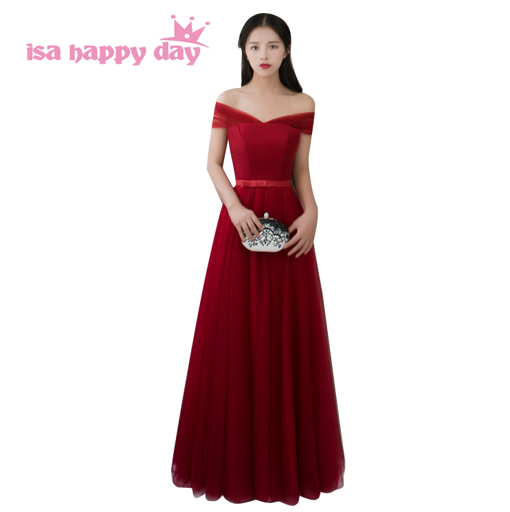 winter wine tulle   bridesmaid   long elegant   bridesmaids     dresses   tulle ball gowns under 100 for wedding guests 2019 size 6 B3738