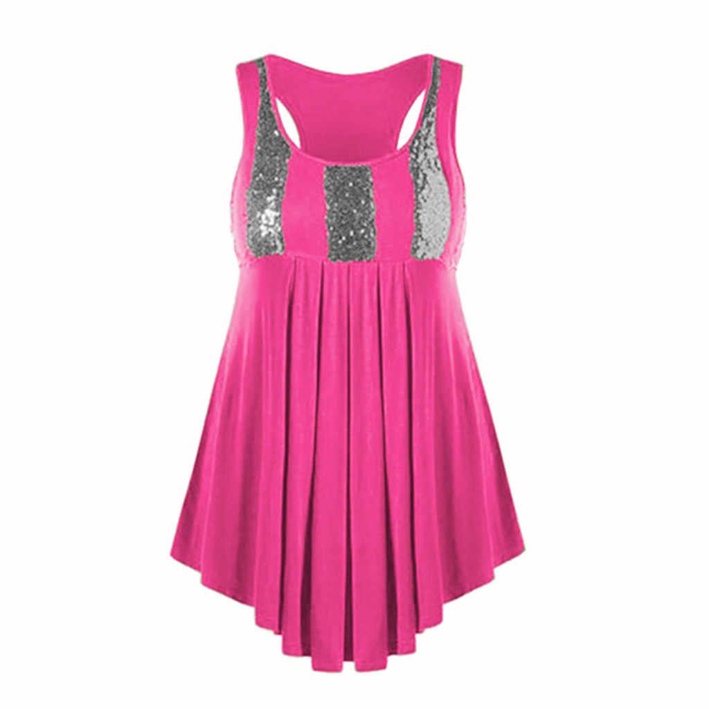 Zanzea Boho Kleding Vrouwen O-hals Plus Size Pailletten Mouwloos Vest Zoom Blouse Gemakkelijk Top Shirt blusas mujer de moda 2019