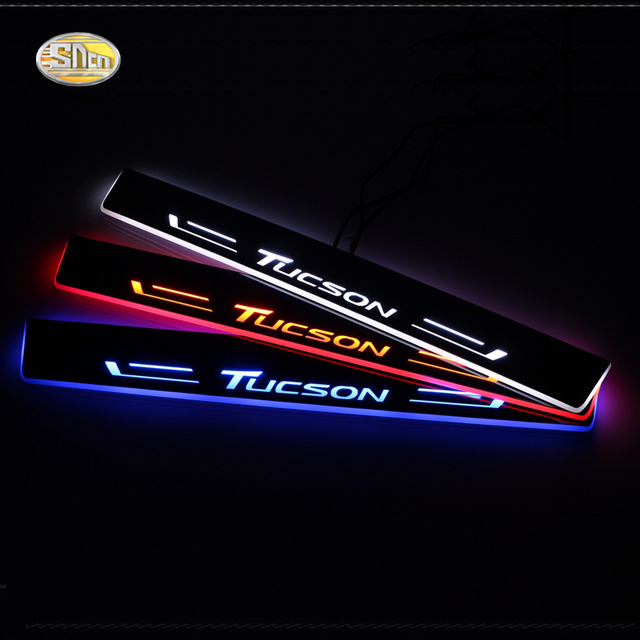 SNCN LED door sill for Hyundai Tucson 2015 2016 Led moving lights door scuff plate Car  sc 1 st  AliExpress.com & SNCN LED door sill for Hyundai Tucson 2015 2016 Led moving lights ...