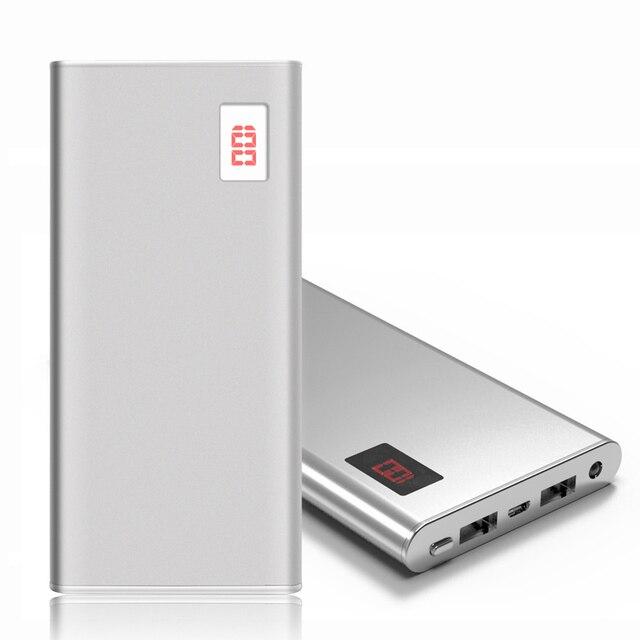 Новый Power Bank 12000 мАч Dual USB Портативный Металлический Корпус Литий-Полимерный Внешнее Зарядное Устройство Powerbank Для Всех Телефонов