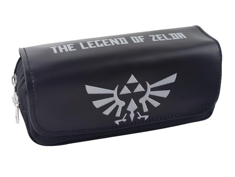 Legend of Zelda Pen Bag Purse Men Zelda Game Large Capacity Double Zipper Stationery Pencil Leather Cosmetic Bags Cases черепаха плетёная zelda