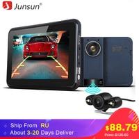 Junsun 7 Inch Car GPS Navigator With DVR 2 In 1 Android Radar Detector Navigation Russia