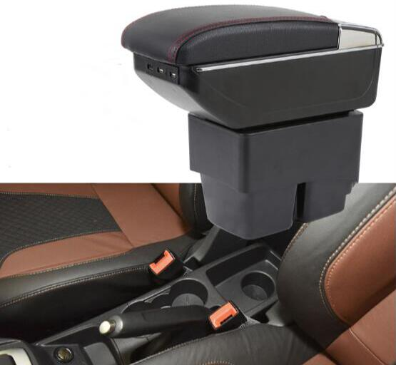 For Ford Fiesta 2009-2017 Center Centre Console Storage Box Armrest Arm Rest Rotatable 2010 2011 2012 2013 2014 2015 2016 for skoda octavia 2009 2010 2011 2012 2013 2014 2015 2016 armrest with usb leather car center console armrests storage box