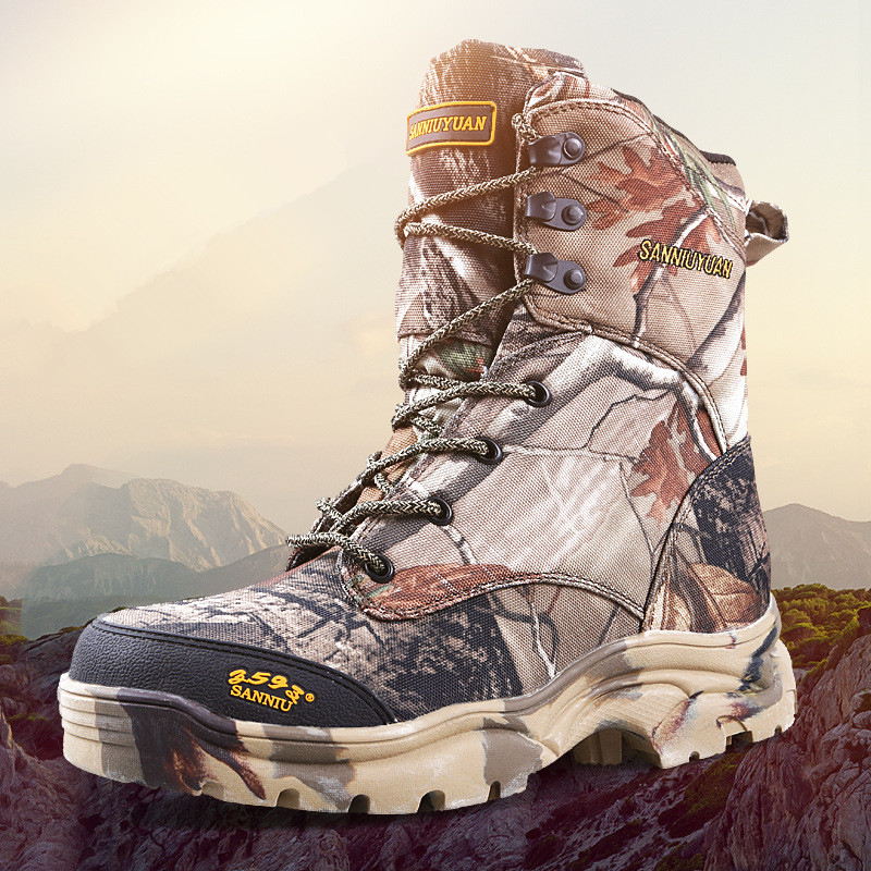 Camo Boots Waterproof men outdoor Tactical jungle desert hiking waterproof leaf bionic camouflage training hunting sports shoes jungle new outdoor men s recreational fishing hunting baseball cap bionic camouflage