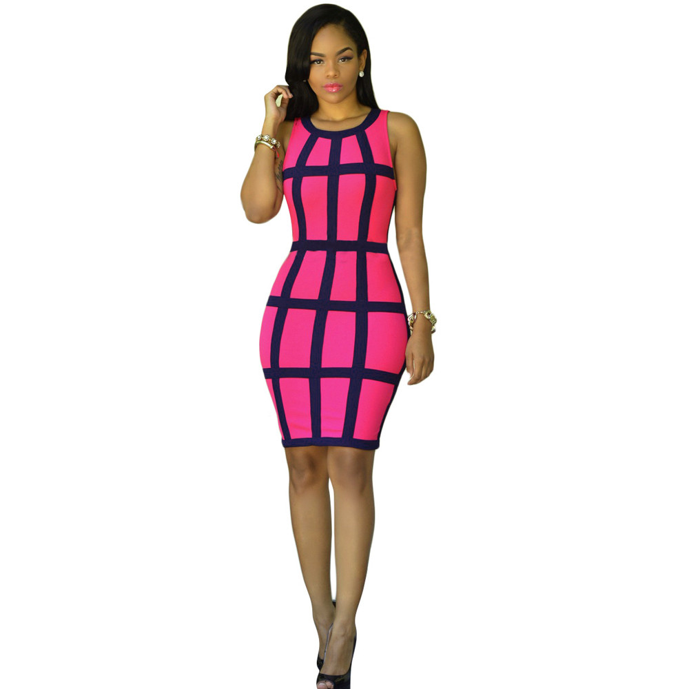 80fdc5db870 Free Ostrich 18 Summer Style Sexy Women Pencil Dress Bandage Sleeveless  Bodycon Party Dresses 9 ...