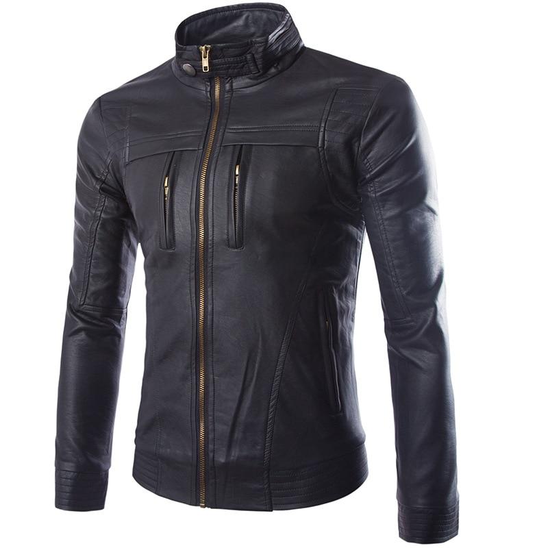 Michael Jackson Skulls Leather Biker Jackets Men Coats Slim Motorcycle Bomber Jacket Mens Leather Jackets And