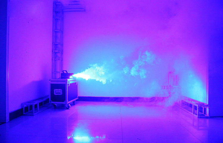 fast shipping disco colorful smoke machine mini LED remote fogger ejector dj Christmas party stage light fog car (13)