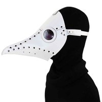White PU Leather With Rivet Halloween Cosplay Props Women Men Steampunk Plague Bird Doctor Mask Retro Rock Gothic Party Masks